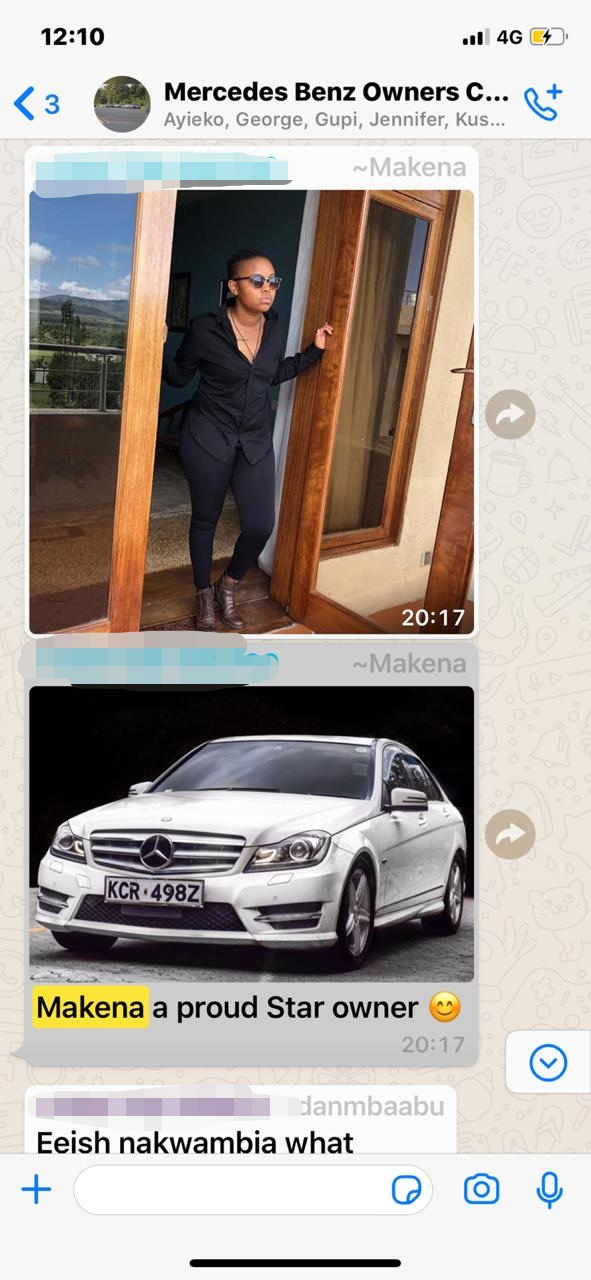 WhatsApp Image 2019 07 09 at 12.51.56 PM 2 - 'Makena Cheater!' Tahidi High actress and BBC reporter's Benz vandalized