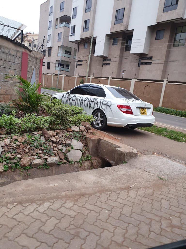 WhatsApp Image 2019 07 09 at 12.51.56 PM - 'Makena Cheater!' Tahidi High actress and BBC reporter's Benz vandalized