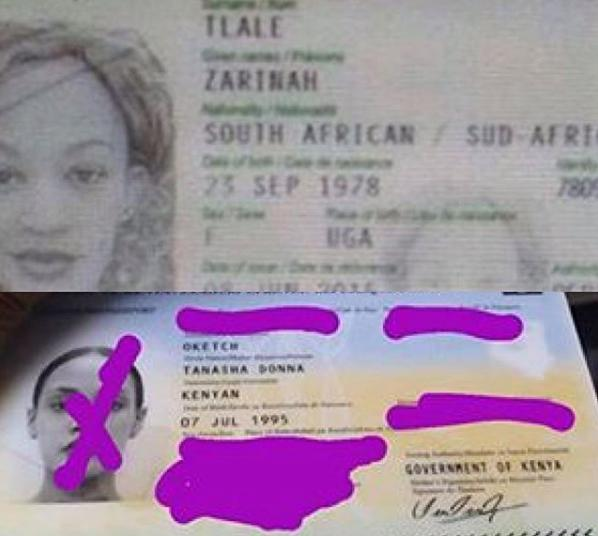 Zaris passport - Bado ni mrembo! Leaked passport of Zari shows she's 41 years old