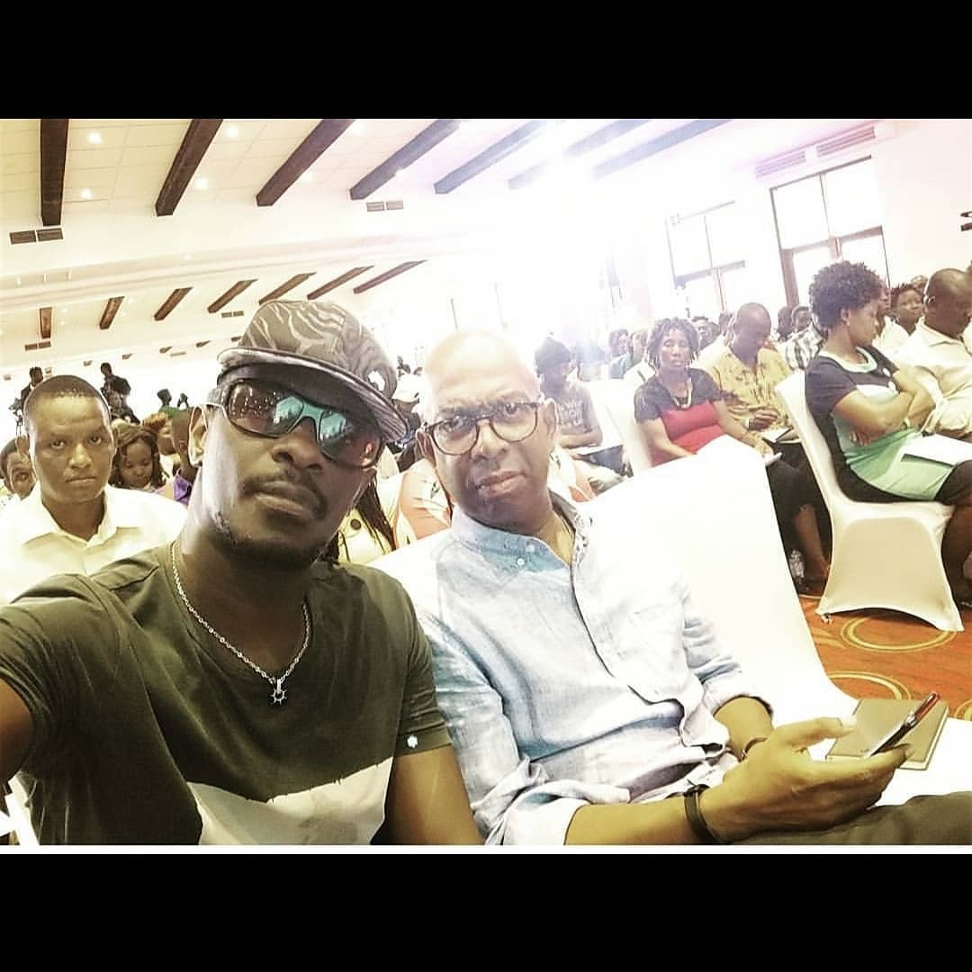 na - He was loved! Wahu and Nameless attends Bob Collymore's mass (Photo)