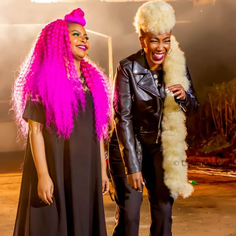 66472250 250905839200760 1321196871506313019 n - Size 8 and Wahu hairstyles outshine their music video, Kenyans react
