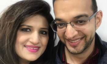 Bunty Shah with his wife Riya 350x210 - I'm still struggling to come to terms with his death,' radio presenter remembers hubby