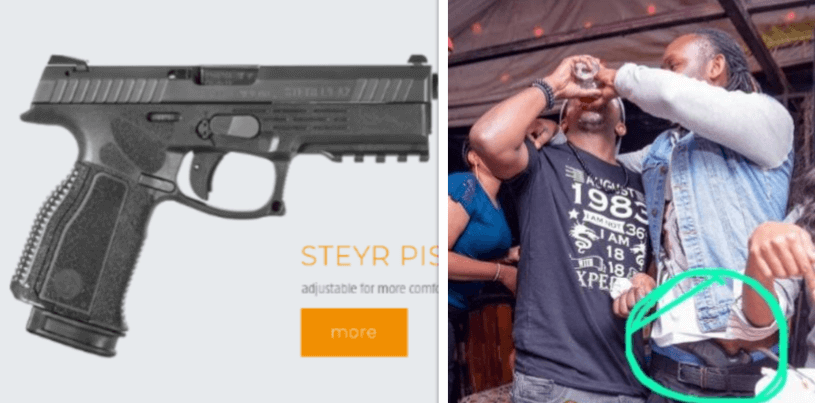 DJ Moh Steyr pistol - Nobody can stop reggae! DJ Moh released after being arrested by DCI