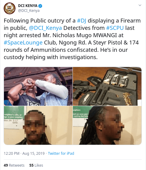 DJ Moh - DJ Moh arrested for partying with a firearm in city club