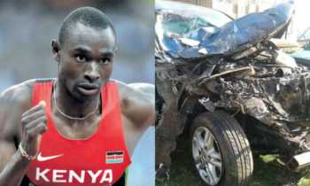 David Rudishaa 350x210 - Oh no! Olympic champion David Rudisha involved in an accident (Photos)