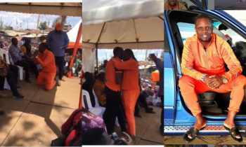 Kriss Darlin ODM 350x210 - 'Let them shoot me!' Kriss Darlin kneels before Raila Odinga, Kenyans react