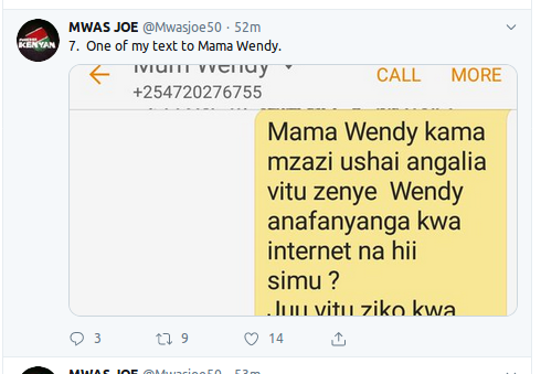 Screenshot from 2019 08 13 120355 - 'I dare Jeff Koinange for an interview!' Wendy Waeni's ex manager Joe Mwangi explodes