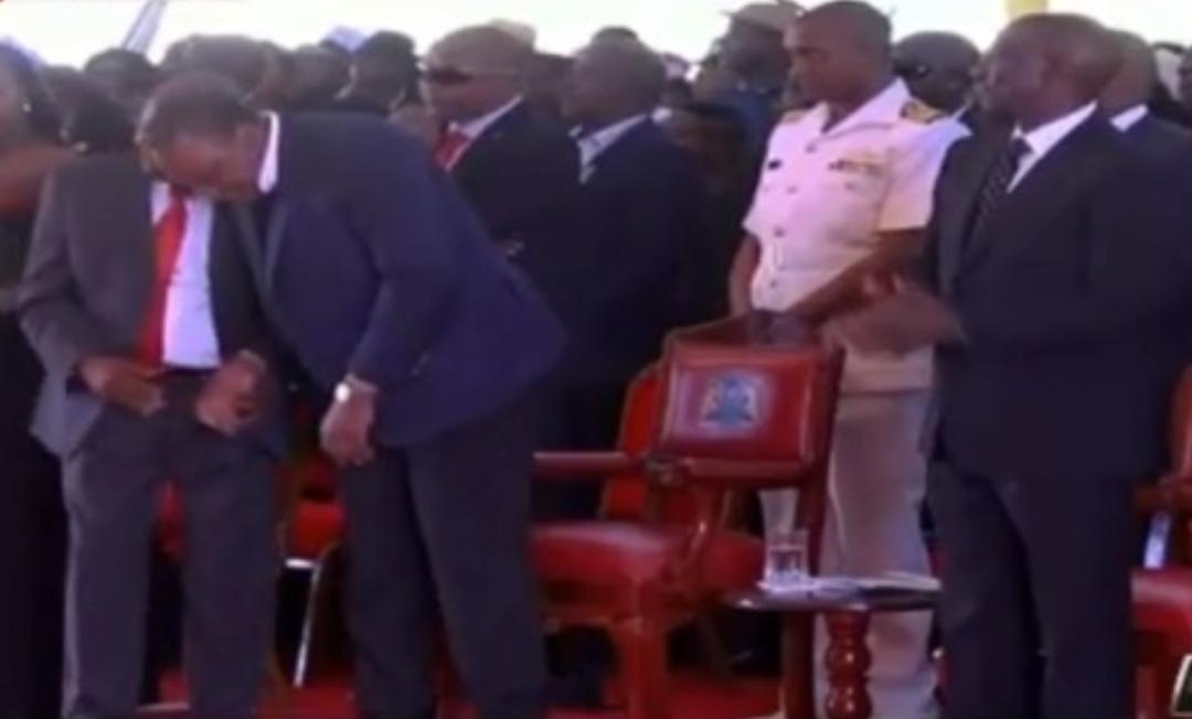 WhatsApp Image 2019 08 24 at 15.29.59 3 - President Uhuru and Sabina Chege excite mourners by dancing to John DeMathew's hits