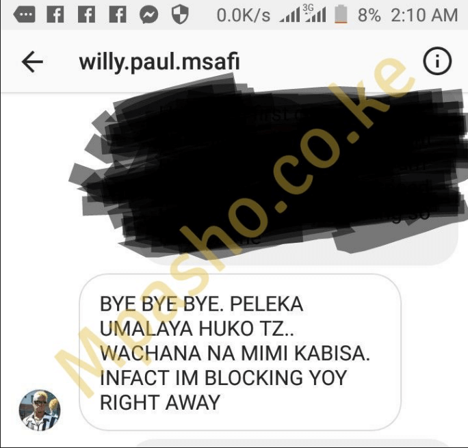 Mpasho willy Paul 2 - 'Willy Paul threatened to shoot me,' ex-girlfriend exposes violent gospel star