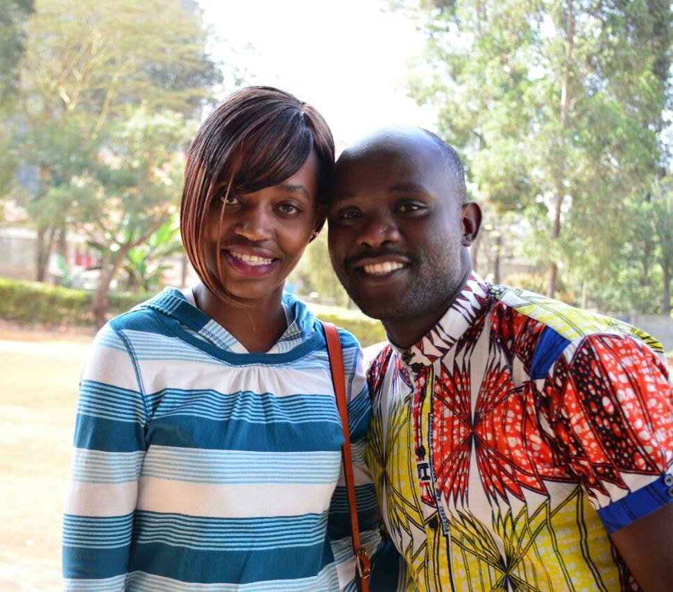 Dan Nyacharo with his wife
