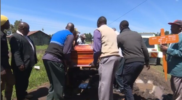 Nyandarua 8 1 - Family forced to ferry casket on a Mkokoteni due to bad road – Photos