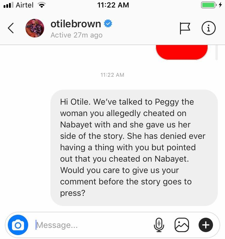 'He invited me to his hotel and I agreed,' Otile Brown's