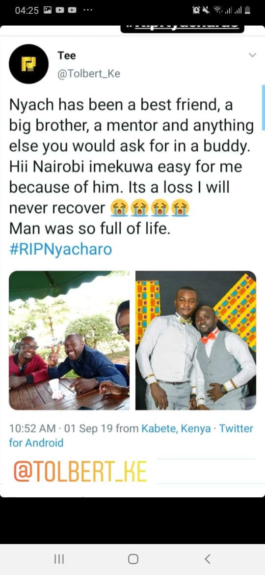 WhatsApp Image 2019 09 02 at 06.53.53 5 - 'I can't send beautiful roses,' message to wife by poet in Nakuru accident