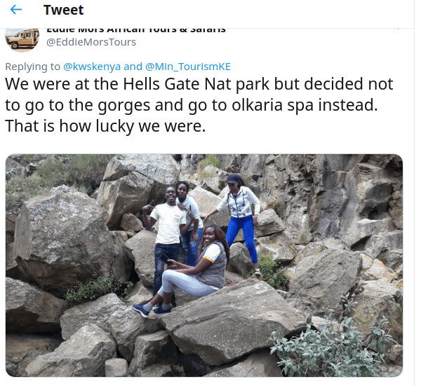 hells gate 1 - 'Lucky to be alive,' group survives Hell's Gate flash floods that left 7 dead
