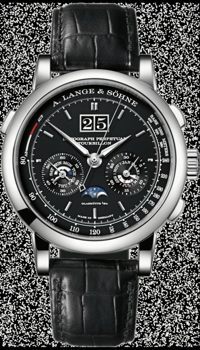 Datograph Perpetual Tourbillon Platinum with dial in black watch.