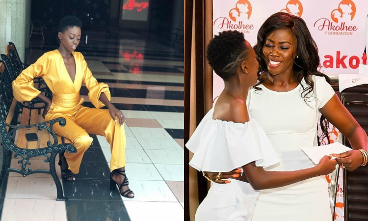 Akothee with daughter