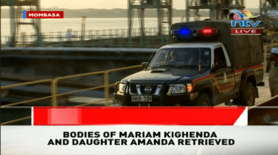 Bdies of Mariam and Amanda being taken to a morgue