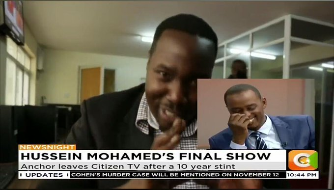 Hussein's last day at Citizen TV
