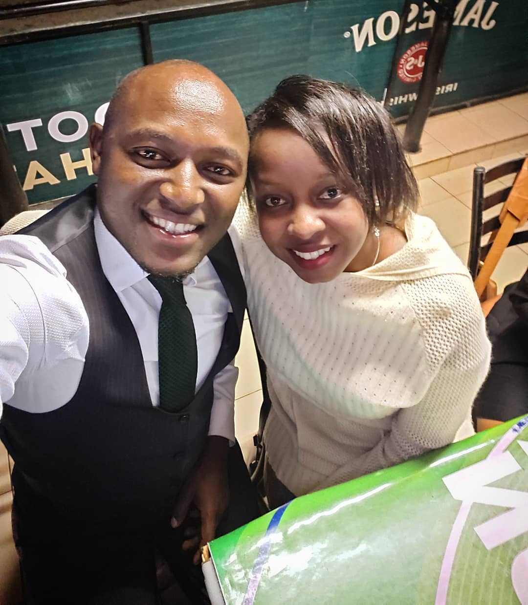 Jacque Maribe with Stephen Letoo
