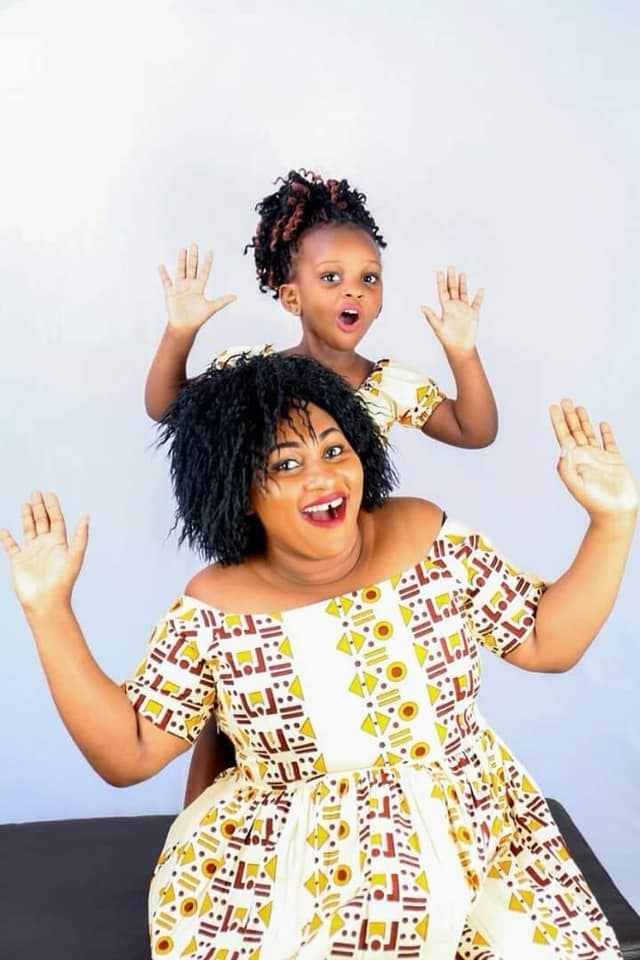 Mariam Kighenda with daughter