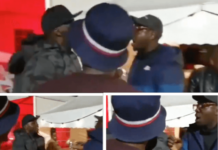 Khaligraph, Savaraand Bien in an altercation