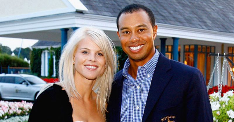 Tiger Woods and his ex wife