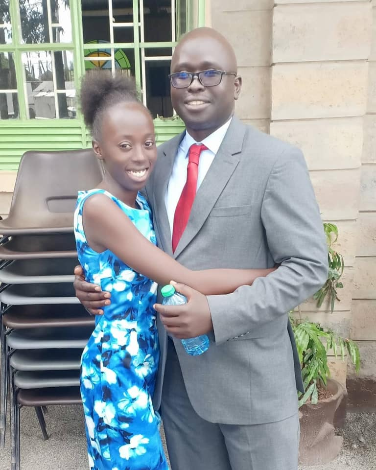 Akothee's daughter and baby daddy Aggrey Okello