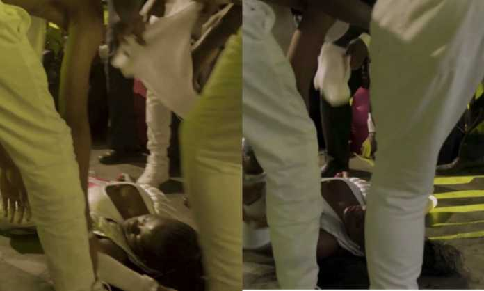 Akothee collapses on stage