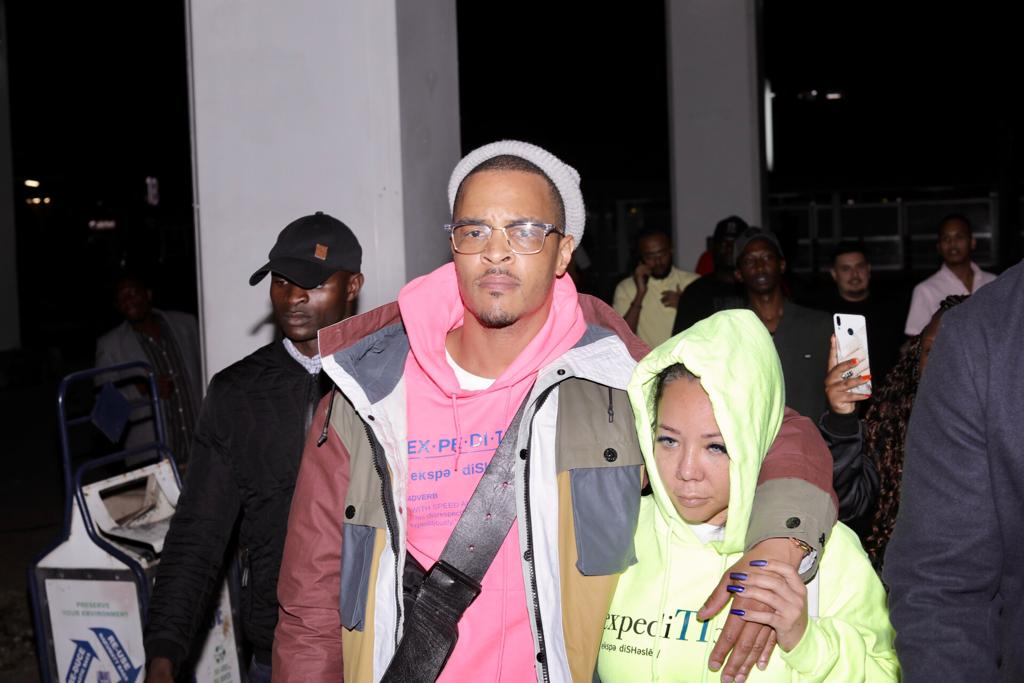 Rapper TI lands in Kenya with his wife, Tiny (Photos)