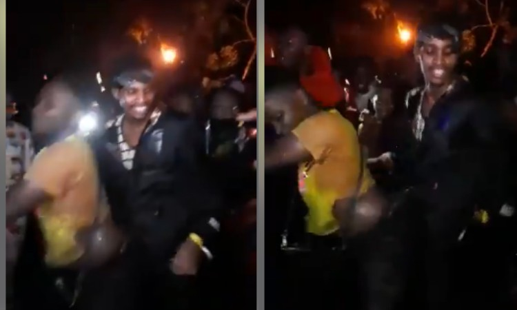 Pombe sio supu! Young man caught on camera enjoying fellow man grinding, speaks out