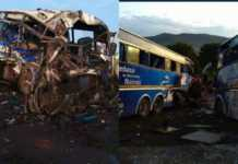 Modern coast bus accident