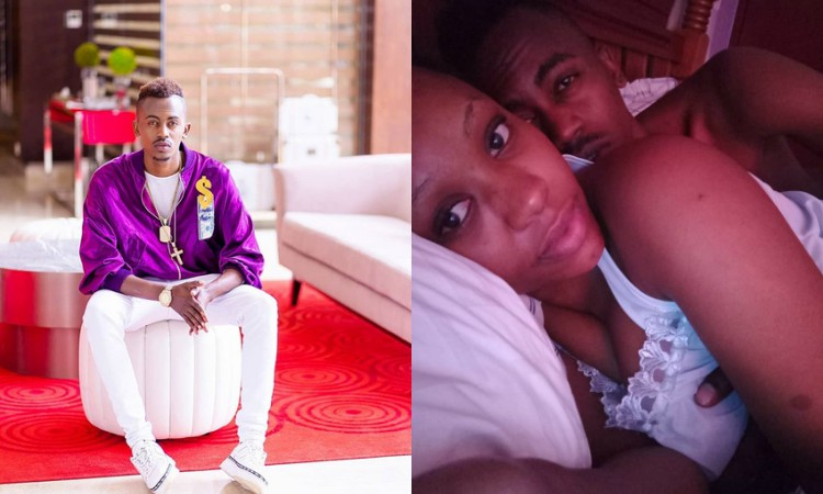 King Mswati! Bahati reacts to Weezdom's pic in bed with city woman