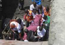 Rescue efforts at Tassia 6 storey building. Photo/ Enos Teche