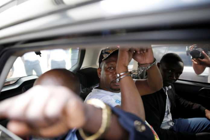 Mike Sonko arrives at Wilson airport after his dramatic arrest. PHOTO/ Reuters