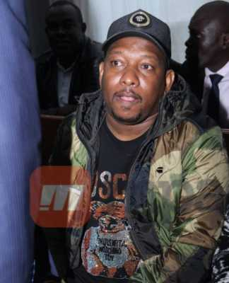 Nairobi Governor Mike Mbuvi Sonko,Fredrick Odhiambo and Anthony Otieno at the Milimani Anti-corruption Court in Nairobi on December 9,2019.They pleaded not guilty to the charges. Photos/Enos Teche