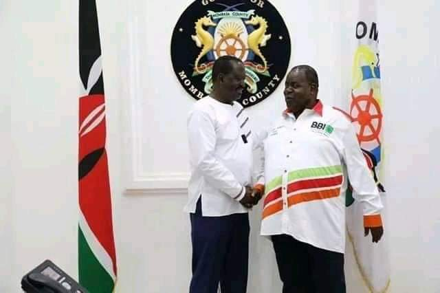 Raila Odinga and governor Awiti