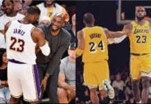 Kobe Bryant and Lebron
