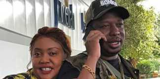 Mike Sonko and his wife
