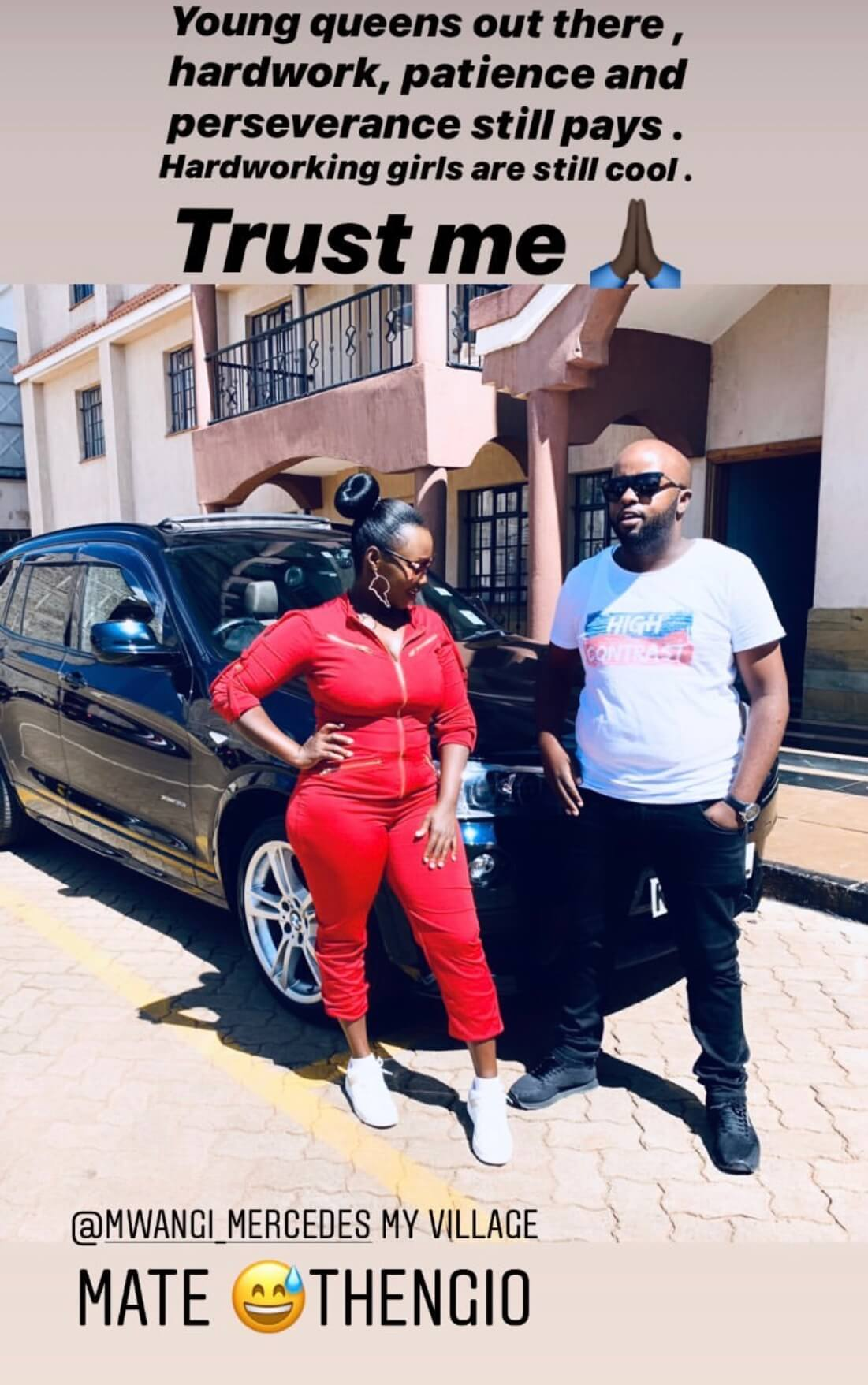 Phil Karanja k 1 - See God! Kate Actress's hubby buys her a car worth your whole year's rent as a push gift