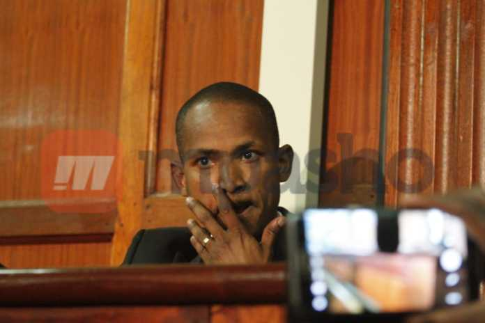 Babu Owino in court. Photo/ Enost Teche