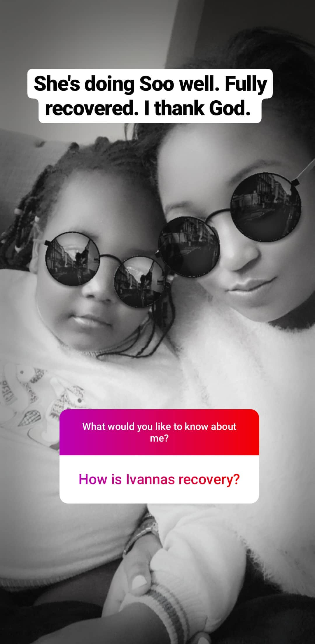 bettymuteikyallos story on Instagram uploaded 30.01.2020 10.52 GMT - Betty Kyallo talks upcoming wedding, fears and Ivanna's recovery
