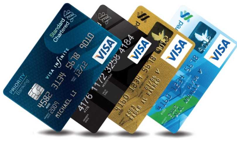 The range of Standard Chartered Credit cards