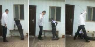 Chinese national beating Kenyan