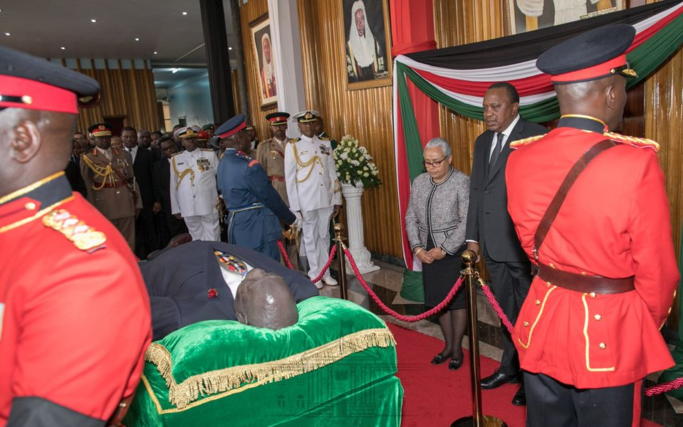 Moi's body at Parliament Buildings