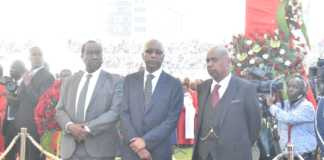 Moi's sons at Nyayo Stadium