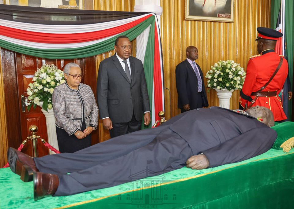 Lala salama! Photos from president Moi's body viewing at Parliament Buildings