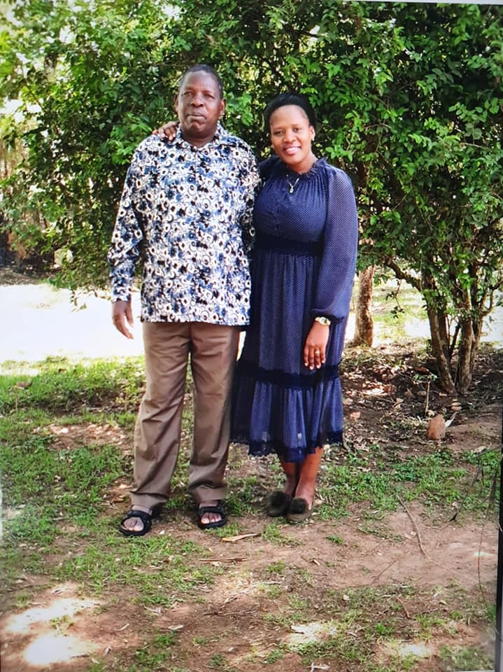 Mary Kilobi and her father