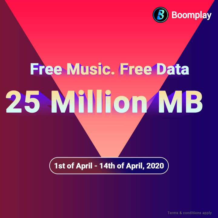 Boomplay Offers Its Users 25 Million Mb Free Data For Entertainment During Covid-19 Lockdown - Mpasho News