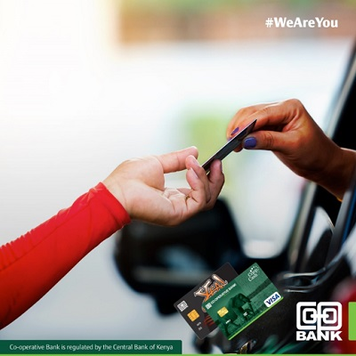 Your Co-op Bank Visa Card can be used to pay for fuel