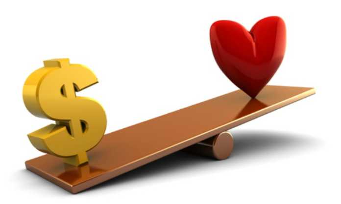 Love over money